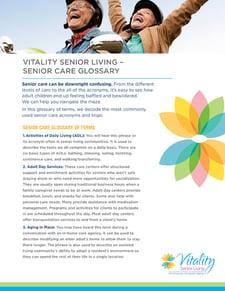 senior living glossary
